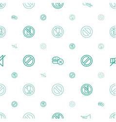 Prohibited icons pattern seamless white background vector