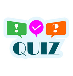 quiz logo with speech bubble symbols concept of vector image