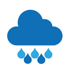 Rain weather isolated icon vector