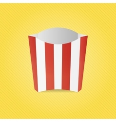 Realistic French Fries Paper Box vector