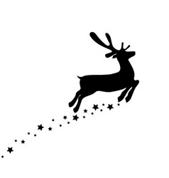 reindeer is skipping for christmas icon isolated vector image