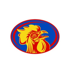 Rugby rooster sports mascot france vector