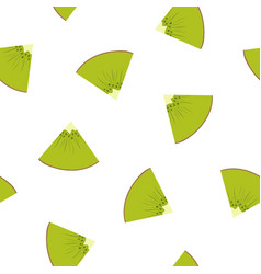 seamless pattern with a slice of kiwifruit vector image