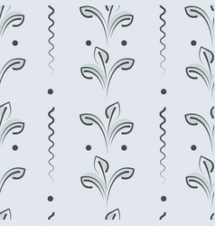 Seamless pattern with elements leaves vector