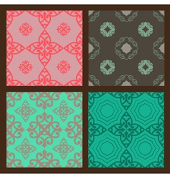 Set-1-seamless-colorful-patterns-oriental-ornament vector image