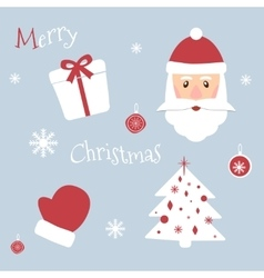 Set of Christmas symbols New Year theme vector image