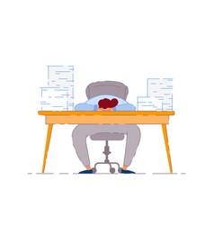 sleeping businessman vector image