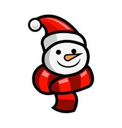 Snow Doll Head vector image