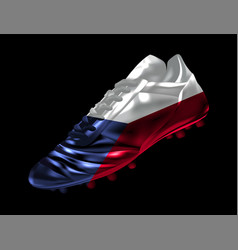 soccer football boot with the flag of czech vector image