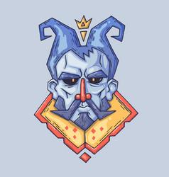 stern face fairy-tale king cartoon vector image