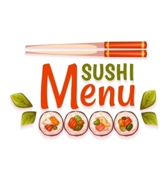 Sushi menu for restaurant vector