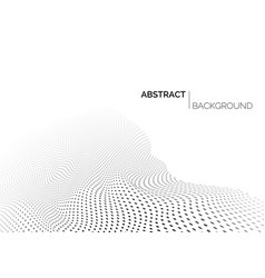 technology futuristic landscape abstract black vector image