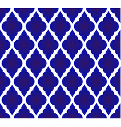Thai pattern blue and white vector