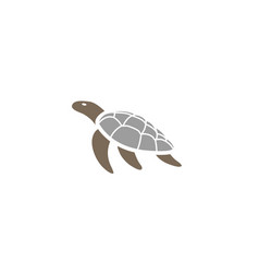 turtle or tortoise swimming logo design vector image
