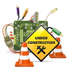 Under Construction Concept with Sign vector image