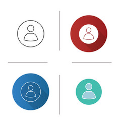 User account circle icon vector