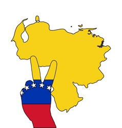 Venezuela hand signal vector