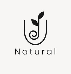 Wellness leaf logo template modern nature design vector