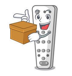 With box cartoon infrared remote control for tv vector