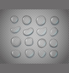 different water drips isolated on transparent vector image vector image