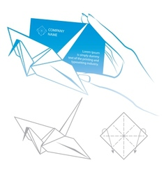Origami symbolic vector image