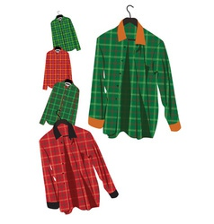 plaid shirt vector image vector image