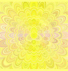 yellow abstract flower mandala design background vector image