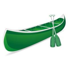 canoe 02 vector image