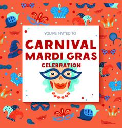 carnival decorative frame background poster vector image vector image