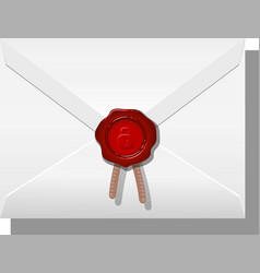 envelope sealed with wax vector image vector image