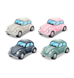 Toy beetle car vector image