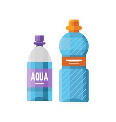 water plastic sport bottle transparent mineral vector image vector image