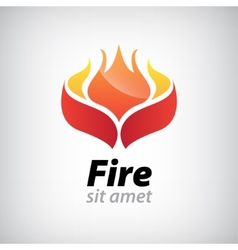 abstract fire icon vector image vector image