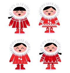 eskimo collection vector image vector image