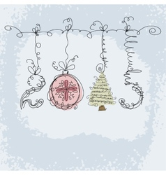 New year hand drawn background vector image