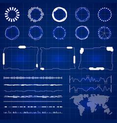 sci futuristic hud interface modern technology vector image