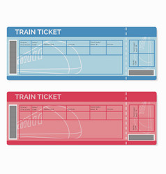 Set of Train Tickets Isolated on White vector image vector image