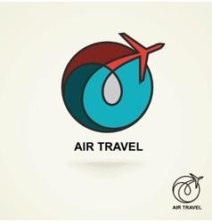 Aviation logo emblem template air travel vector
