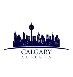Calgary Canada skyline vector image
