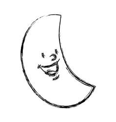 Cartoon moon space astronomy night icon vector