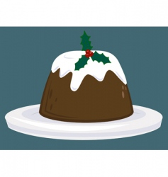 Christmas pudding vector image vector image