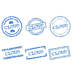 Cloud stamp vector image vector image