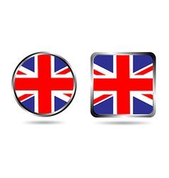 united kingdom england uk flag buttons vector image vector image