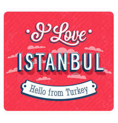 vintage greeting card from istanbul vector image vector image
