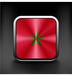 - Morocco Flag Glossy Button vector image vector image