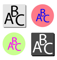 abc flat icon vector image