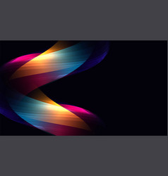 Abstract colorful glowing curve lines shape vector
