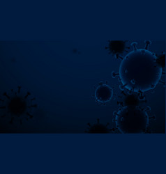 Abstract coronavirus outbreak and influenza vector
