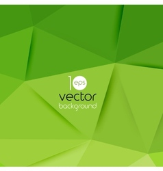 Abstract geometric green background vector