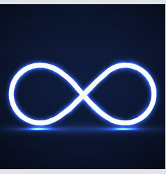 abstract neon infinity symbol vector image
